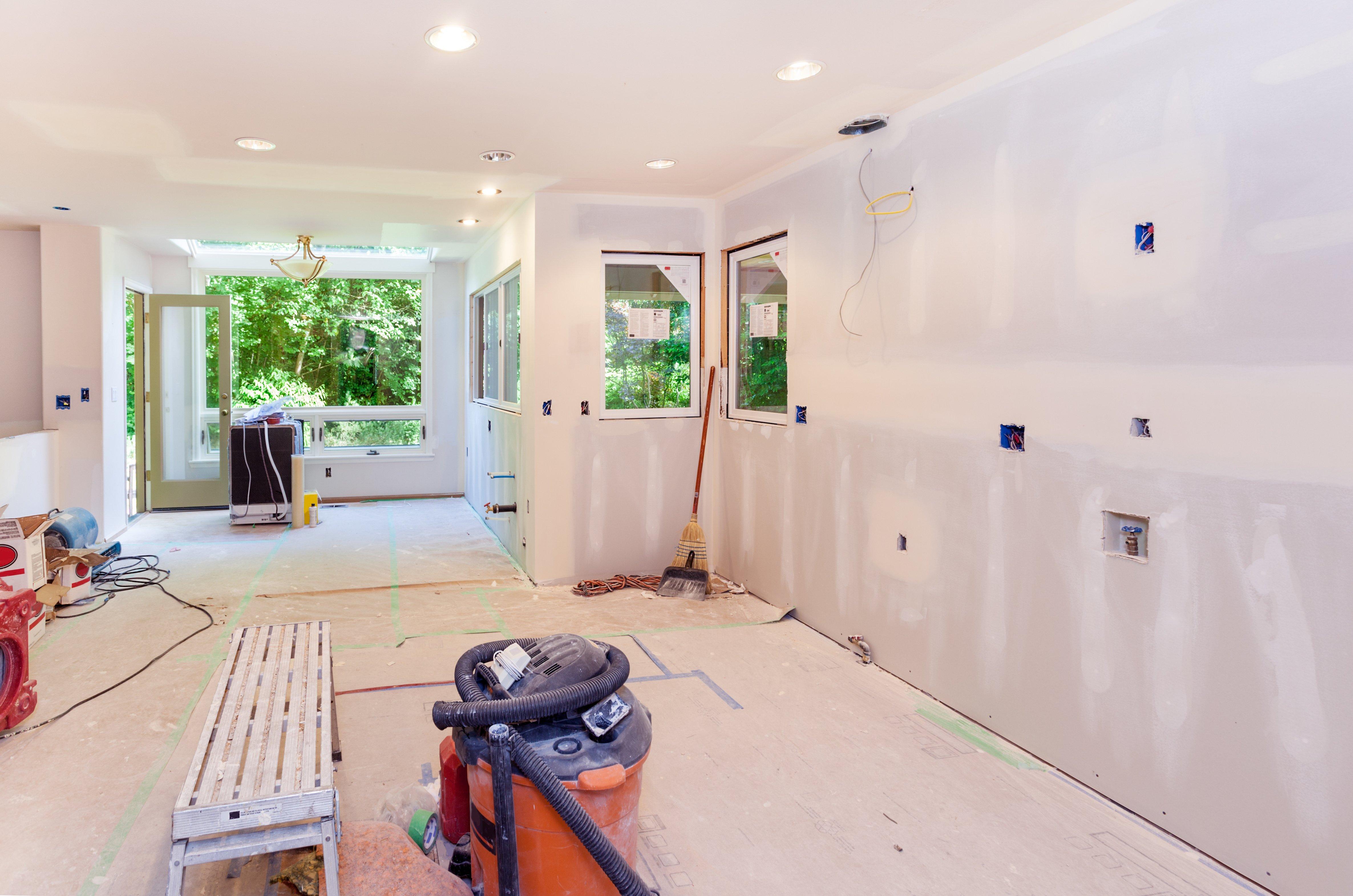 Kitchen drywall work